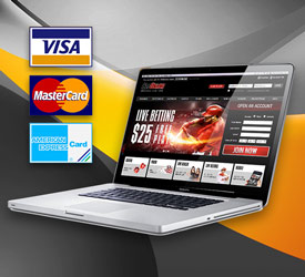 Depositing money with a credit card to an online poker site