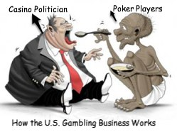 Politicians taking money from poker players due to regulations