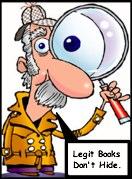 man looking for legit books