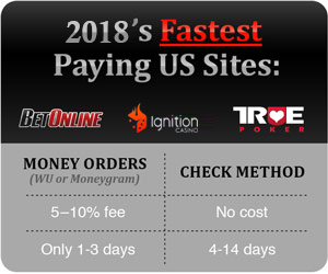 US Poker Sites Casino Withdrawals & Wire Transfers Cashouts
