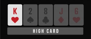 High card poker hand infographic