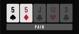 Pair poker hand infographic